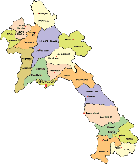 Laos-Country-Map